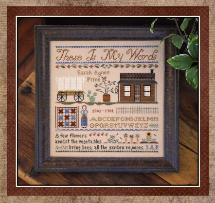 These Is My Words cross stitch chart Little House Needleworks