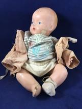 Vintage Baby Doll Creepy Halloween Haunted House Prop CB4 - $14.84