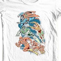 Justice League T-shirt Superman The Flash Aqua Man cotton tee DC comics DCO238 image 2