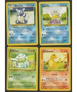 POKEMON BASIC - BULBASAUR - CHARMANDER - SQUIRTLE - WARTORTLE - CARDS ARE NM/MT  - $4.50