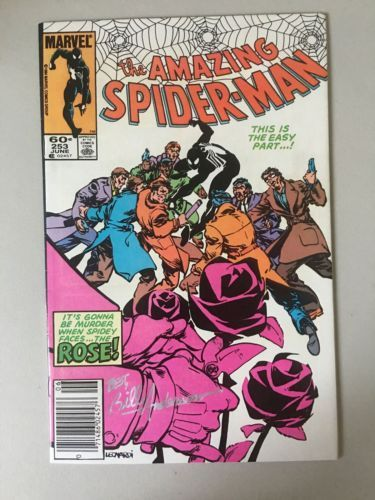 Amazing Spider-Man (1963 1st Series) #253 Signed by Bill Anderson VF Very Fine