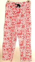 WOMEN'S PRINTED COMFORT CROP SLEEP PANTS SIZE L - $8.88