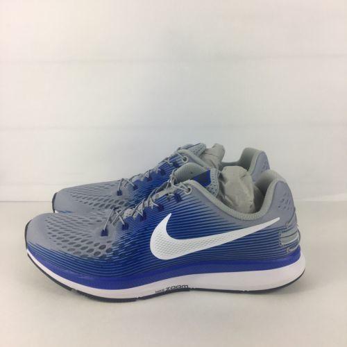 b7db911721e34 Nike Air Zoom Pegasus 34 Shoes Men Size 9 Flyease Wolf Grey White Blue  Running