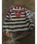Child's Laptop/Tablet Backpack Black/White & Pink Heart (Brand New) - $6.67