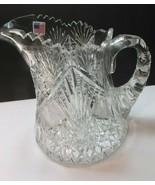 Signed Hawkes American Brilliant Period Cut Glass pitcher Antique ABP Ju... - $232.47