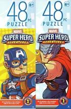 Marvel Super Hero Adventures - 48 Pieces Jigsaw Puzzle (Set of 2) - $14.84