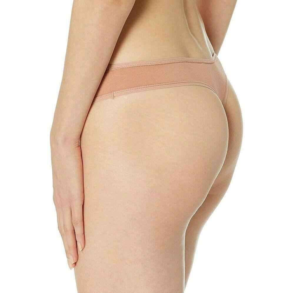 Calvin Klein Women's Warm Camel Cotton Form Soft Thong Underwear Panty QD3643