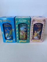 Walt Disney collector series glasses Snow white,Peter pan And Beauty & The Beast - $21.24