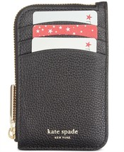 Kate Spade Margaux Zip Card Holder Key Fob Case Leather Wallet ~NWT~ Black - $73.26