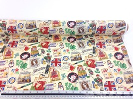 Vintage UK Fabric Material *3 Sizes* - $1.97