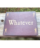 Primitive Wood Block  BJ-1080 Whatever - Star - $3.95