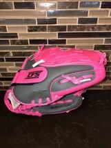 FRANKLIN Girls Pink Gray Contour Fit Baseball Glove RTP 22700P3 Durabond Lacing - $22.76