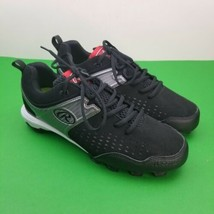 New Rawlings Mens Baseball Clubhouse Cleats Size 9 Blk/Silver 3854428 Le... - $23.38
