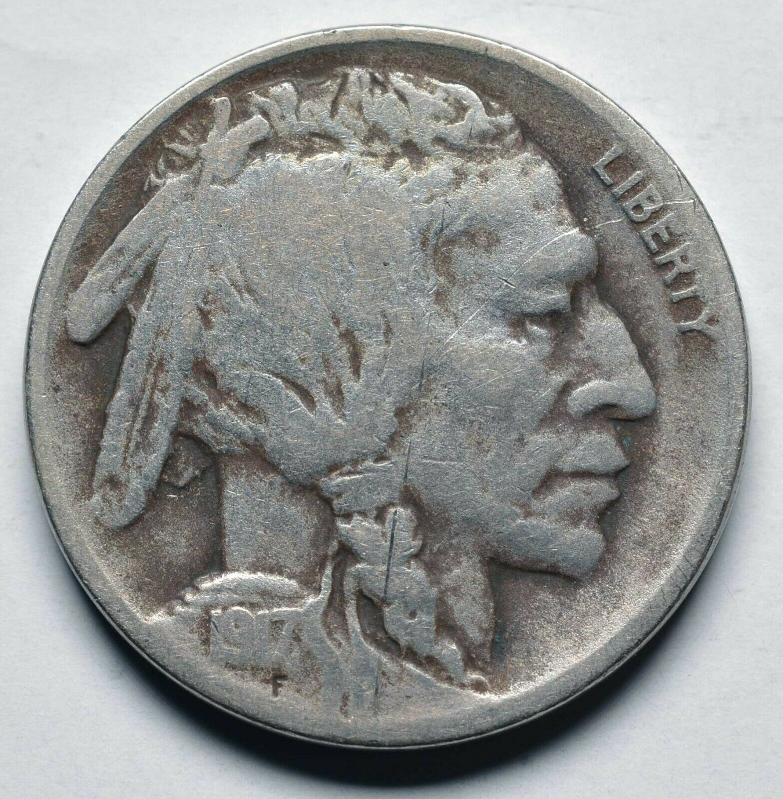 1917D Buffalo Nickel 5¢ Coin Lot# A 258