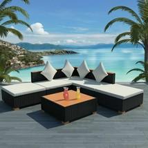 vidaXL Garden Sofa Set 15 Pieces Wicker Poly Rattan WPC Outdoor Lounge Seat - $395.99