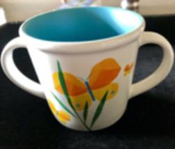 Corelle Coordinates Butterfly Children's / Kids 2-Handled Mug RARE - $12.00