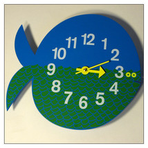 Zootimer Clock Fernando the Fish by Vitra; silk-screen print/lacquered wood - $185.00