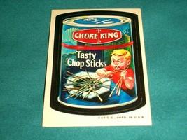 1973 Wacky Packages Original 3rd Series *CHOKE KING* Sticker Card Nm - $11.26