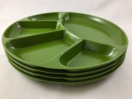 Set Of 4 Vintage Green Melamine Divided Sushi F... - $35.53