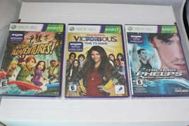 Microsoft Xbox 360 Games Lot Of 3 Michael Phelps, Victorious, Kinect Adventures - $17.27