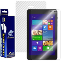 ArmorSuit MilitaryShield Dell Venue 8 Pro Screen + White Carbon Fiber Skin! NEW - $34.99