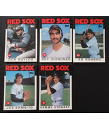 1986 Topps Traded Boston Red Sox Team Set of 5 Baseball Cards Missing Se... - $4.00