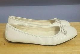 ROCKPORT Adiprene by Adidas White Leather Ballet Flats Size 8.5 NWT - $34.64
