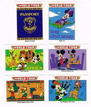 Lot of 6 Disney World Tour Impel Trading Cards 175 183 186 187 196 198 - $1.50