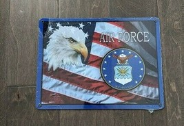 "12"" USA Eagle Flag AIR FORCE 3-D cutout retro USA STEEL plate display ad Sign - $68.60"