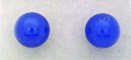 Blue Agate Gemstone 6mm Stud Earrings - $8.02