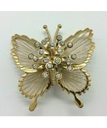 Monet Butterflies Pin Brooch Gold Tone Costume Jewelry  - $14.84