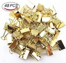Coolrunner 48pcs Golden Metal Binder Clips, Office Clips, Utility Paper ... - $19.15