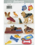 Butterick 4226 DOG CAT Pet Coats Stocking Bed Placemat Toy sewing pattern UNCUT - £5.41 GBP