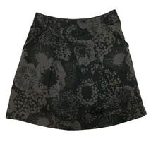H&M Noir pour Femmes Taupe Imprimé Plissé Ligne-A Décontracté Mini Jupe 8 M - $8.93