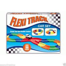 96 Pieces Flexible Track Car Set Make Your Own Tracks Kids Fun Toys Chil... - $231,97 MXN