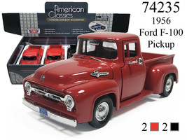 New Motormax 1/24 - 1956 FORD F-100 PICKUP DIECAST MODEL CHOOSE COLOR - $18.75