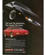 1991 PONTIAC FIREBIRD TRANS AM AD POSTER 24 X 36 INCH Looks GREAT! - $19.94