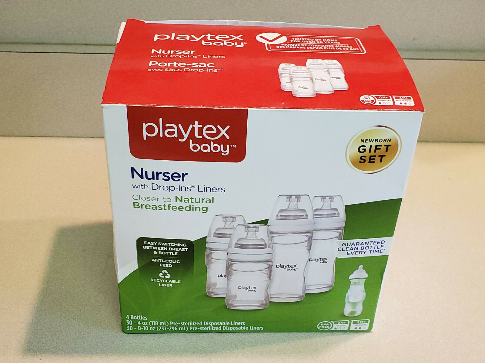 Playtex Baby Drop-Ins Nursers with Liners Bottle Feeding Gift Set - $14.85