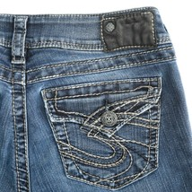 Silver Suki Surplus Dark Wash Flap Pocket Stretch Denim Jeans Womens 27 ... - $34.52