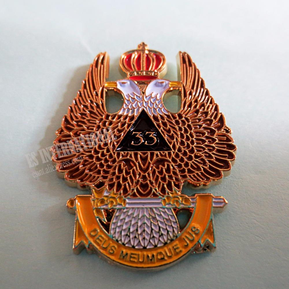 46801dfc1394 Wholesale masonic lapel pins badge mason freemason mlp34 eagle crown size 3  2cm