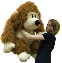 Large Stuffed Gorilla Long Brown Fur Big Plush ... - $97.11