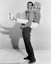 Send Me No Flowers Doris Day Jumps On Rock Hudson'S Back 16X20 Canvas Gi... - $69.99
