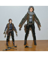 "STAR WARS THE BLACK SERIES JYN ERSO ACTION FIGURE LOT 6"" & 3.75 HASBRO R... - $13.08"