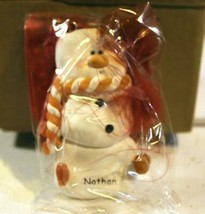CHRISTMAS ORNAMENTS WHOLESALE- SNOWMAN- 13346- 'NATHAN'-  (6) - NEW -W74 - $5.83