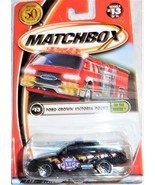 """Matchbox 2002 """"Ford Crown Victoria Police"""" #13 of 75 Mint On Sealed Card - $3.00"""