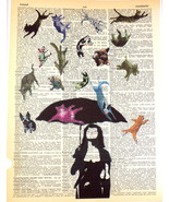 ArtN Wordz Raining Cats & Dogs Original Dictionary Page Pop Art Wall/Des... - $21.00