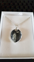 Orthoceras  Fossil is set in sterling silver.  Necklace 16inch