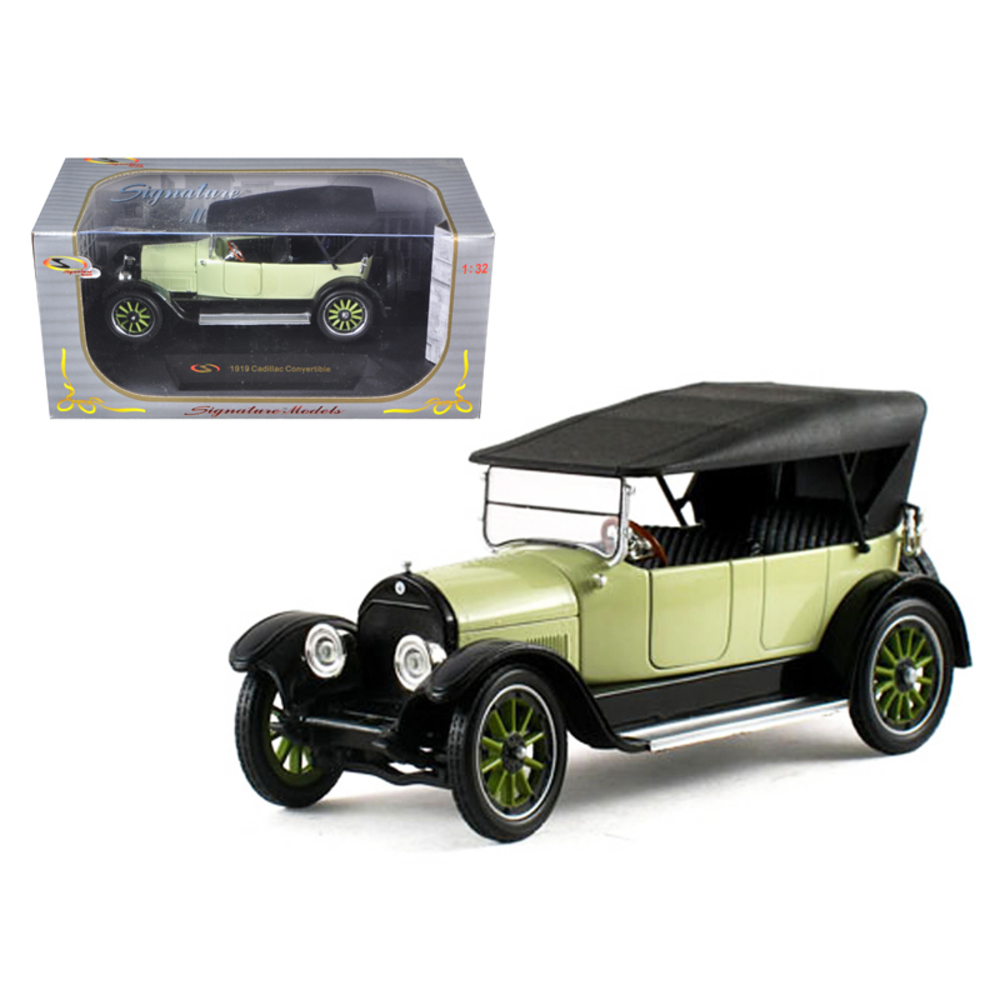 1919 Cadillac Type 57 Soft Top Lime 1/32 Diecast Model Car by Signature Models 3