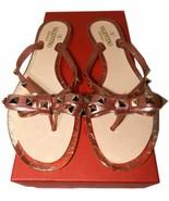 Size 37 VALENTINO GARAVANI Rockstud Jelly Thong Sandals Flip Flop Pink  - $239.00