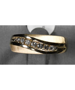 14K Yellow Gold Mens Diamond Band .50tdw, 8.7g Si Clarity Size 11 1/2 Ex... - $995.00
